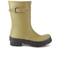 Hunter Men's Original Two Tone Short Wellies Light Olive Camel