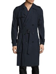 Vince Lightweight Cotton Trench Coat Coastal Blue