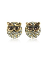 Alcozer And J Earrings Owl Earrings W Crystals