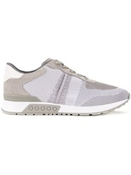 Tod's Panelled Sneakers Grey