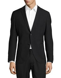 Strellson Two Button Wool Suit Jacket Black
