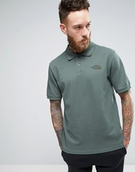 The North Face Pique Polo In Green Green
