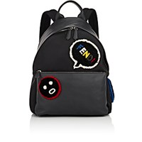 Fendi Men's Shearling Emoticon Backpack Blue