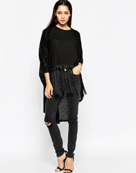 Ax Paris Oversized Lightweight Cardigan Black
