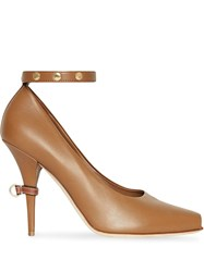 Burberry D Ring Pumps Brown