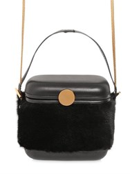 Benedetta Bruzziches Mini Picnic Leather And Mink Fur Box Bag