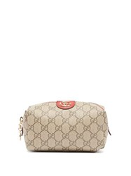 Gucci Ophidia Gg Supreme Canvas Make Up Bag Red Multi