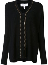 Derek Lam 10 Crosby V Neck Jumper Black