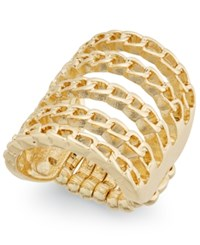 Thalia Sodi Gold Tone Chain Link Stretch Ring Only At Macy's