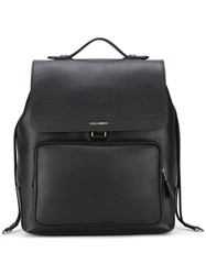 Dolce And Gabbana Flap Backpack Black