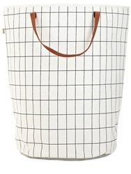 Ferm Living Grid Hand Printed Laundry Basket White