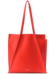 Nina Ricci Folded Detail Tote Red