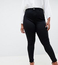 Missguided Plus Lawless Highwaisted Skinny Jeans Black