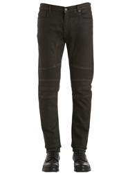 Belstaff 18Cm Eastham Tapered Cotton Denim Jeans Black