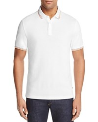 Michael Kors Mixed Media Tipped Regular Fit Polo Shirt 100 Bloomingdale's Exclusive White