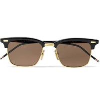 Thom Browne D Frame Acetate And Gold Tone Sunglasses Navy