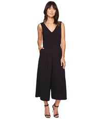Kensie Smooth Stretch Crepe Jumpsuit Ks4k9683 Black Women's Jumpsuit And Rompers One Piece