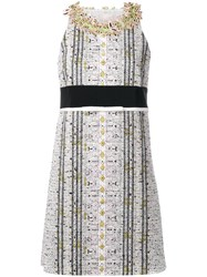 Giambattista Valli Embellished Neck Straight Dress Black