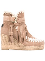Mou Eskimo Wedge Women Chamois Leather Leather Foam Rubber 37 Nude Neutrals