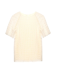 A.P.C. Peggy Cotton Crochet T Shirt