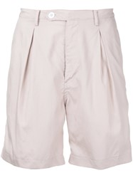 Factotum Pleated Shorts Men Cotton Lyocell 46 Pink Purple