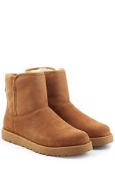 Ugg Australia Shearling Lined Ankle Boots Brown