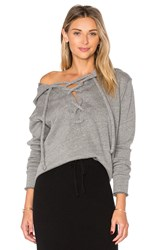 Lna Lace Up Hoodie Grey
