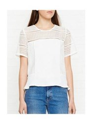 Whistles Maisie Graphic Lace Top White