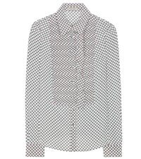 Bottega Veneta Venho Checked Shirt Grey