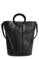 Leith Large Ring Handle Zip Tote Black