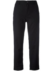 Carhartt Cropped Trousers Women Cotton Spandex Elastane 28 Black