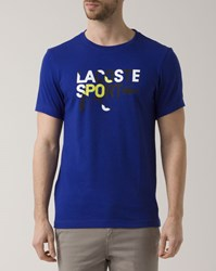 Lacoste Red Crew Neck Logo Print T Shirt