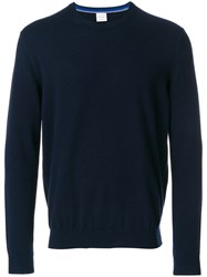 Paul Smith Cashmere Knitted Sweater Men Cashmere Xl Blue