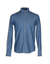 Folk Shirts Shirts Men Blue
