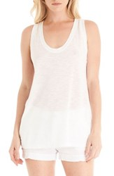 Michael Stars Women's U Neck Tank White