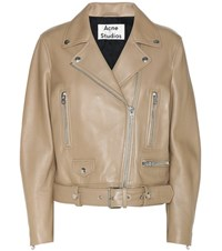 Acne Studios Mock Leather Jacket Beige