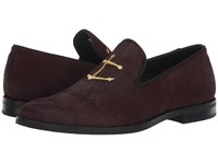 Sperry Overlook Leather Smoking Slipper Burgundy Pony Shoes Red