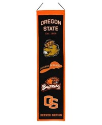 Winning Streak Oregon State Beavers Heritage Banner Black Orange
