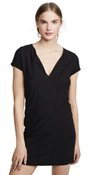 Nation Ltd. Ltd Lindsey T Shirt Dress Jet Black