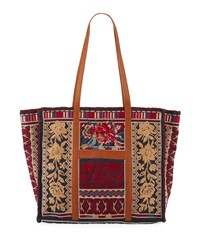 Johnny Was Veronica Market Embroidered Tote Bag Denim