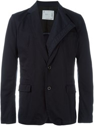 Sacai Double Lapel Blazer Blue