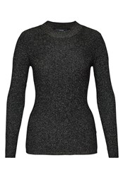 Hallhuber Rib Knit Jumper With Lurex Black