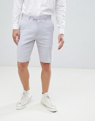 French Connection Wedding Linen Slim Fit Shorts Dusky Pink