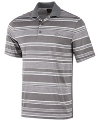 Greg Norman For Tasso Elba Men's Heathered Striped Polo Created For Macy's Shark