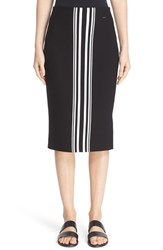 St. John Women's Collection Intarsia Stripe Knit Skirt
