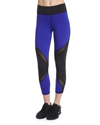 Michi Hydra Colorblock Cropped Sport Leggings Indigo