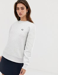 Fred Perry Taped Sweatshirt White