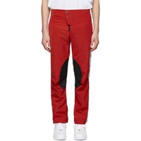 Martine Rose Red Motorcross Trousers