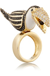 Noir Gold Plated Cubic Zirconia Ring