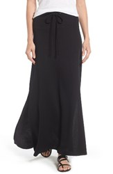 Caslonr Women's Caslon Drawstring Knit Maxi Skirt Black